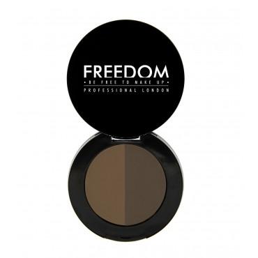 ProArtist Freedom - Sombra para cejas en polvo Duo Brow - Ebony