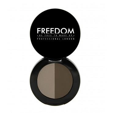 ProArtist Freedom - Sombra para cejas en polvo Duo Brow - Medium Brown