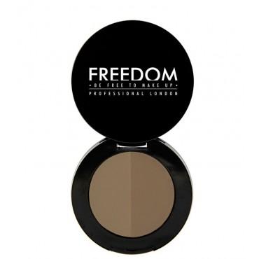 ProArtist Freedom - Sombra para cejas en polvo Duo Brow - Taupe