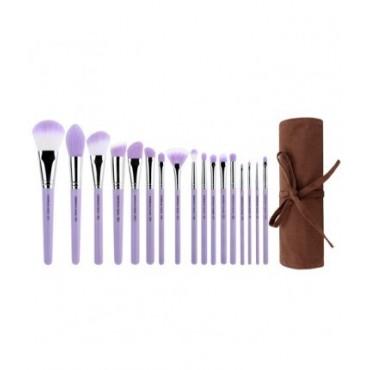 Bdellium - Set 17 brochas Purple Bambu Precision + manta enrrollable