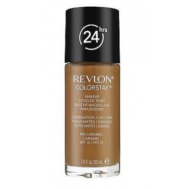 Revlon - Base de Maquillaje fluida ColorStay para piel Mixta/Grasa - 400 Caramel