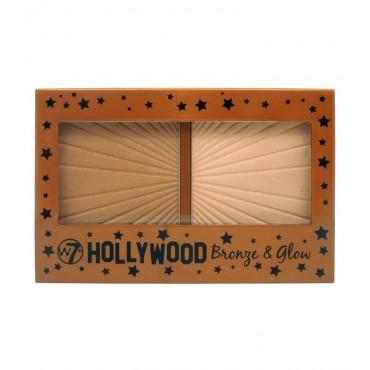 W7 - Iluminador y contorno en polvo Hollywood Bronze & Glow