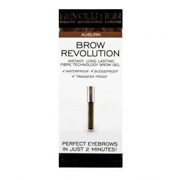 Makeup Revolution - Gel para cejas Brow Revolution - Auburn