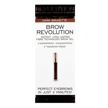 Makeup Revolution - Gel para cejas Brow Revolution - Dark Brunette