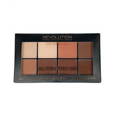 Makeup Revolution - Paleta Contorno en Crema Ultra Pro HD - Medium Dark