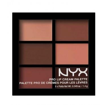 NYX - Paleta de labiales Pro Lip Cream - PLCP02: The Nudes