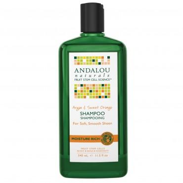 Andalou Naturals - Shampoo rico en humedad, Argán y Naranja dulce