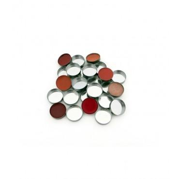 Zpalette - Godet metalicos vacíos para productos cosméticos 18mm - 20uds