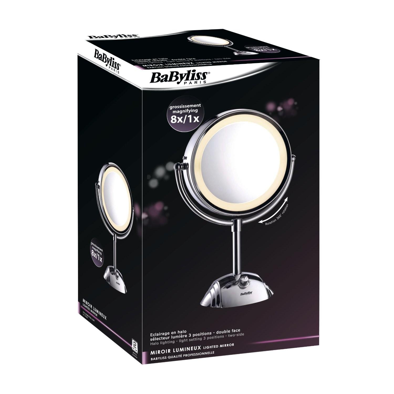 babyliss espejo con luz 2 caras 8 aumentos ref 8438e