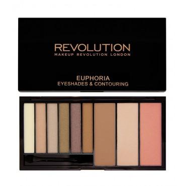 Makeup Revolution - Paleta de sombras y contorno Euphoria - Bronzed