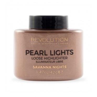 Makeup Revolution - Polvos sueltos iluminadores Pearl Lights - Savanna Nights