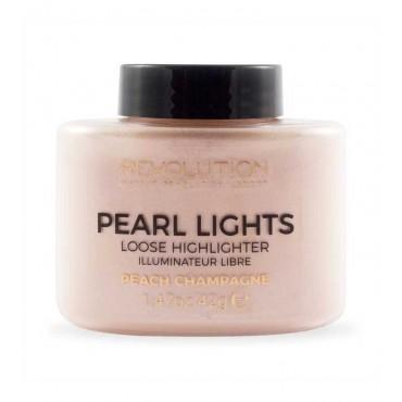 Makeup Revolution - Polvos sueltos iluminadores Pearl Lights - Peach Champagne