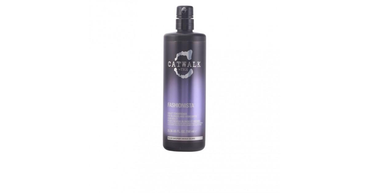 TIGI - CATWALK fashionista violet acondicionador cabello rubios o claros 750 ml