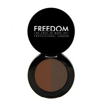 ProArtist Freedom - Sombra para cejas en polvo Duo Brow - Auburn