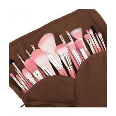 Bdellium - Set 22 brochas Pink Bambu Deluxe + manta enrrollable