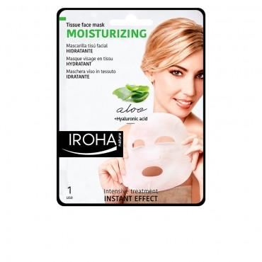Iroha - Mascarilla de papel humectante aloe + te verde + ginseng + HA