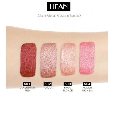 Hean - Barra de labios en Mousse Glam Metal - 504: Amber Fuchsia