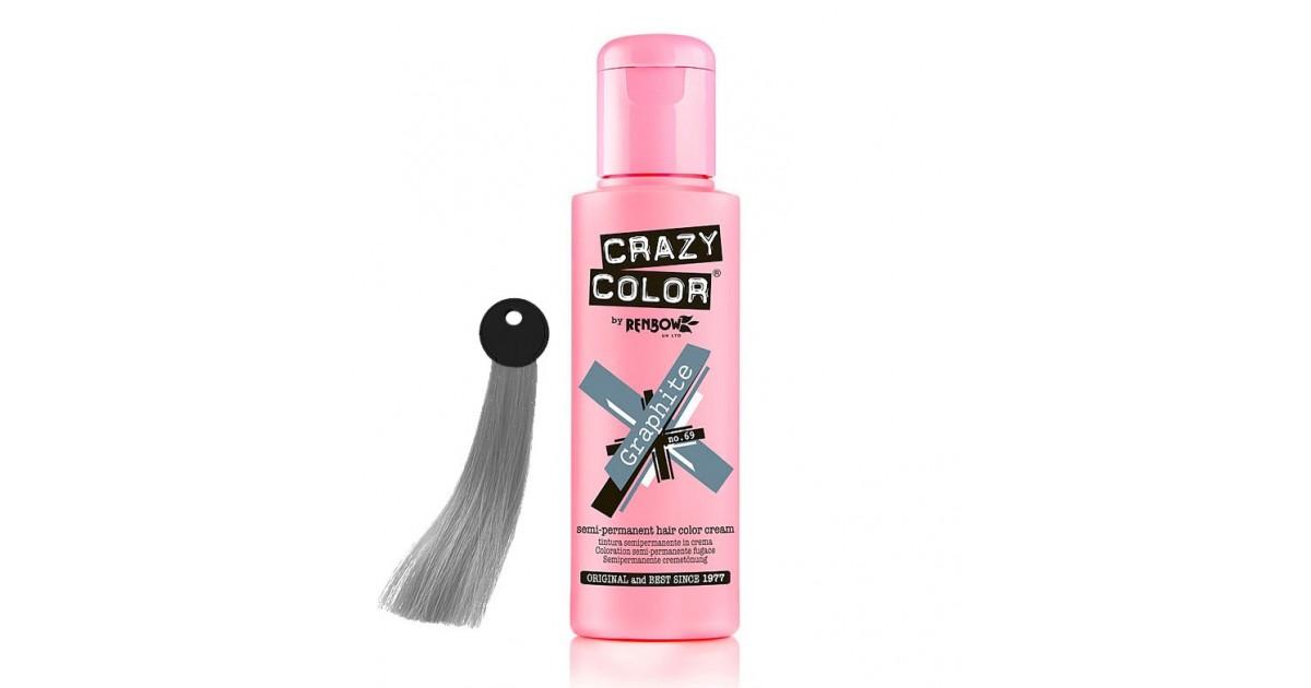 Crazy Color - Nº 69 - Crema colorante para el cabello - Graphite 100ml