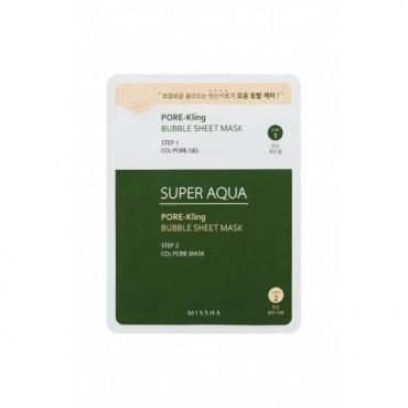 Missha - Super Aqua Pore-Kling - Mascarilla Antipuntos Negro Nariz y contorno
