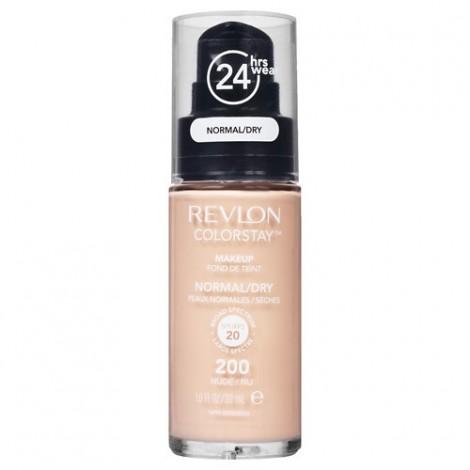 Revlon - Base de Maquillaje fluida ColorStay para piel Normal/Seca - 200 Nude