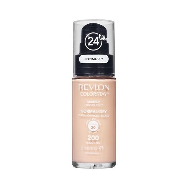 c4686a0da Revlon - Base de Maquillaje fluida ColorStay para piel Normal/Seca - 200  Nude