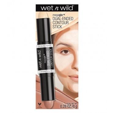 Wet N Wild - Stick Iluminador y contorno en crema MegaGlo - E7511: Light/Medium