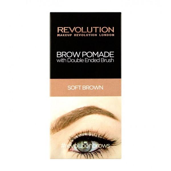 Makeup revolution pomada para cejas soft brown for Soft revolution