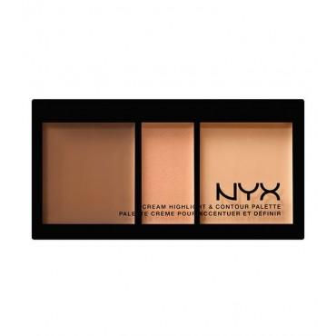 NYX Professional Makeup - Paleta de iluminador y contorno en crema - CHCP02: Medium