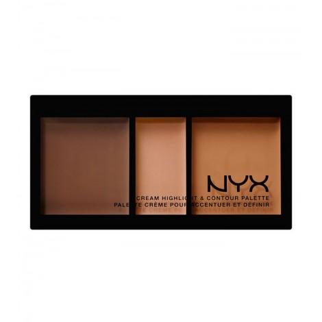 NYX Professional Makeup - Paleta de iluminador y contorno en crema - CHCP03: Deep