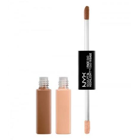 NYX Professional Makeup - Sculpt & Highlight Dúo de Contorno - SHFD01: Taupe/Ivory