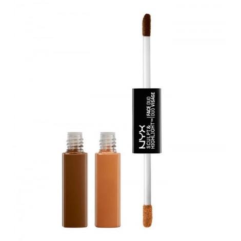 NYX Professional Makeup - Sculpt & Highlight Dúo de Contorno - SHFD06: Espresso/Honey