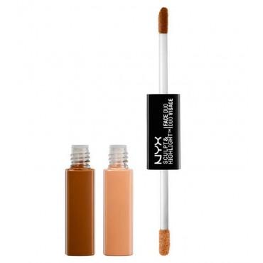 NYX - Sculpt & Highlight Dúo de Contorno - SHFD04: Cinnamon/Peach