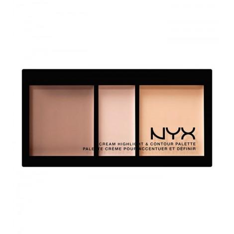 NYX Professional Makeup - Paleta de iluminador y contorno en crema - CHCP01: Light