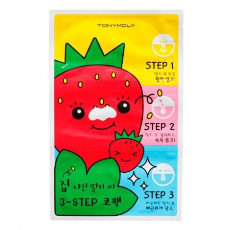 Tonymoly - Tiras limpiadoras de Poros en 3 pasos Runaway Strawberry