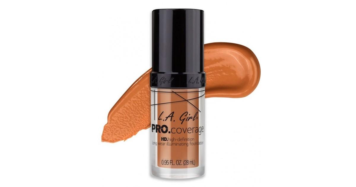 L.A. Girl - Base de Maquillaje Líquida Pro Coverage Illuminating - GLM650: Sand