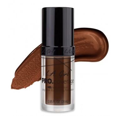 L.A. Girl - Base de Maquillaje Líquida Pro Coverage Illuminating - GLM656: Dark Chocolate