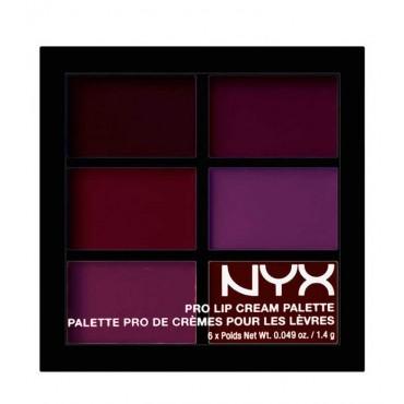NYX Professional Makeup - Paleta de labiales Pro Lip Cream - PLCP04: The Plums