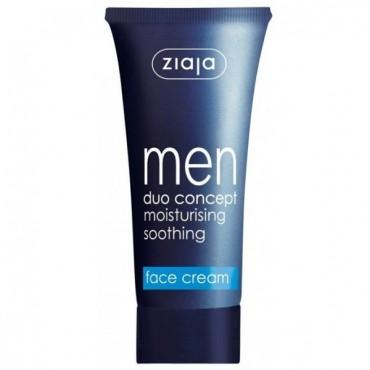 Ziaja - Gama Hombre - Crema Hidratante con Propiedades Calmantes y Matificantes