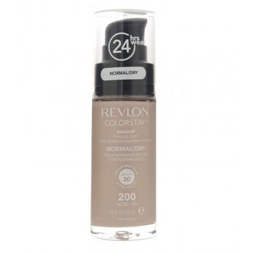 Revlon - Base de Maquillaje fluida ColorStay para piel Normal/Seca SPF20 - 200: Nude