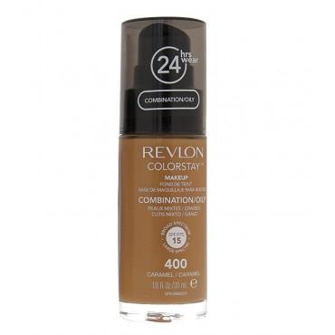 Revlon - Base de Maquillaje fluida ColorStay para piel Mixta/Grasa SPF15 - 400: Caramel