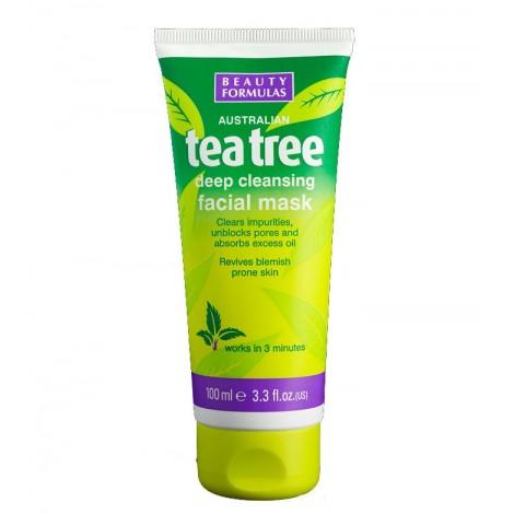 Beauty Formulas - Mascarilla para limpieza facial profunda del Árbol del té