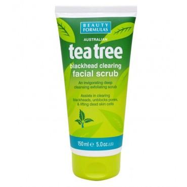 Beauty Formulas - Exfoliante facial para puntos negros Árbol del té