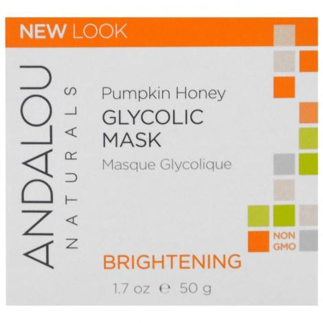Andalou Naturals - Mascarilla facial glicólica iluminadora de calabaza y miel
