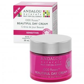 Andalou Naturals - 1000 Rosas - Crema de día Beautiful. Piel sensible