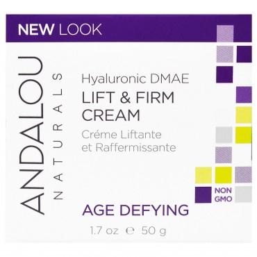 Andalou Naturals - Crema Reafirmante con Acido Hialurónico DMAE