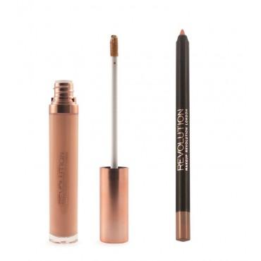 Makeup Revolution - Gloss Lip Kit Retro Luxe - Honour
