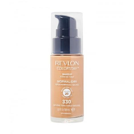 Revlon - Base de Maquillaje fluida ColorStay para piel Normal/Seca SPF20 - 330: Natural Tan