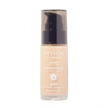 Revlon - Base de Maquillaje fluida ColorStay para piel Mixta/Grasa SPF15 - 240: Medium Beige