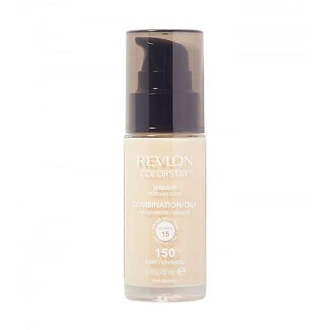 Revlon - Base de Maquillaje fluida ColorStay para piel Mixta/Grasa SPF15 - 150: Buff Chamois