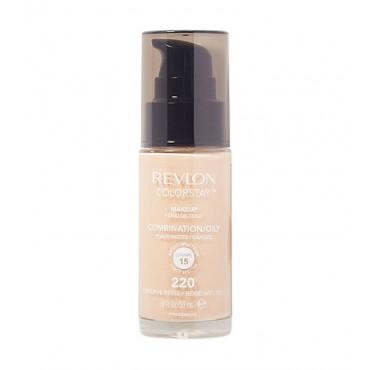 Revlon - Base de Maquillaje fluida ColorStay para piel Mixta/Grasa SPF15 - 220: Natural Beige